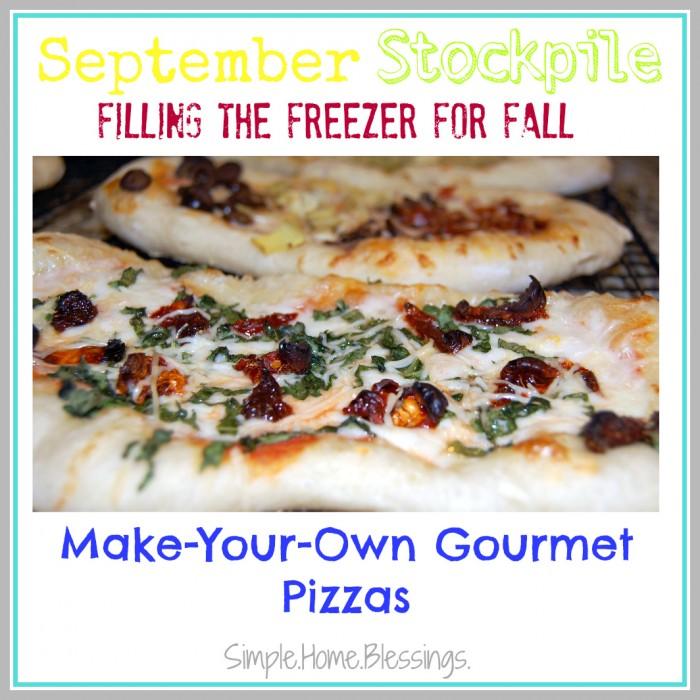 September Stockpile Frezzer Friendly Pizzas