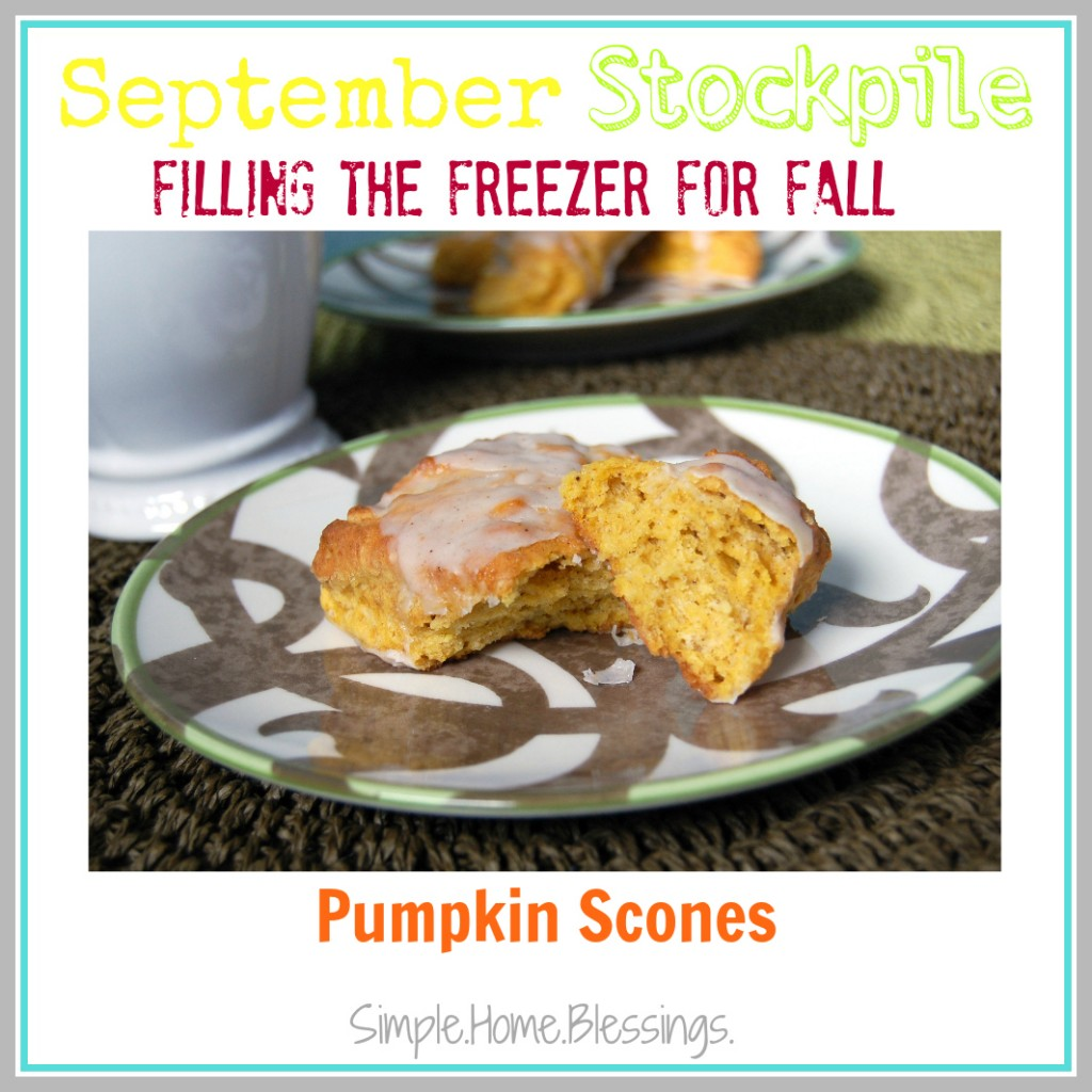 September Stockpile Pumpkin Scones