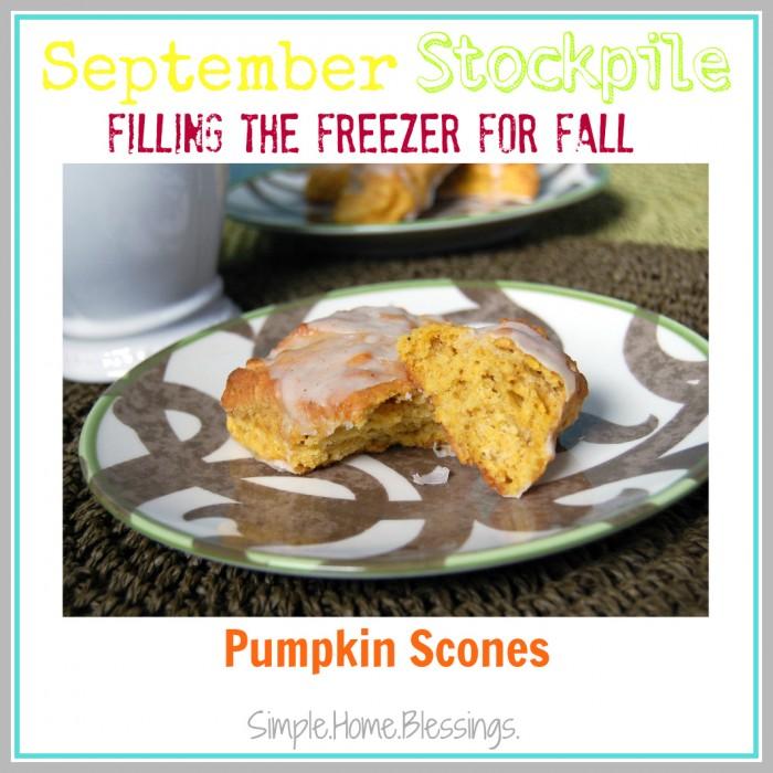September Stockpile Pumpkin Scones