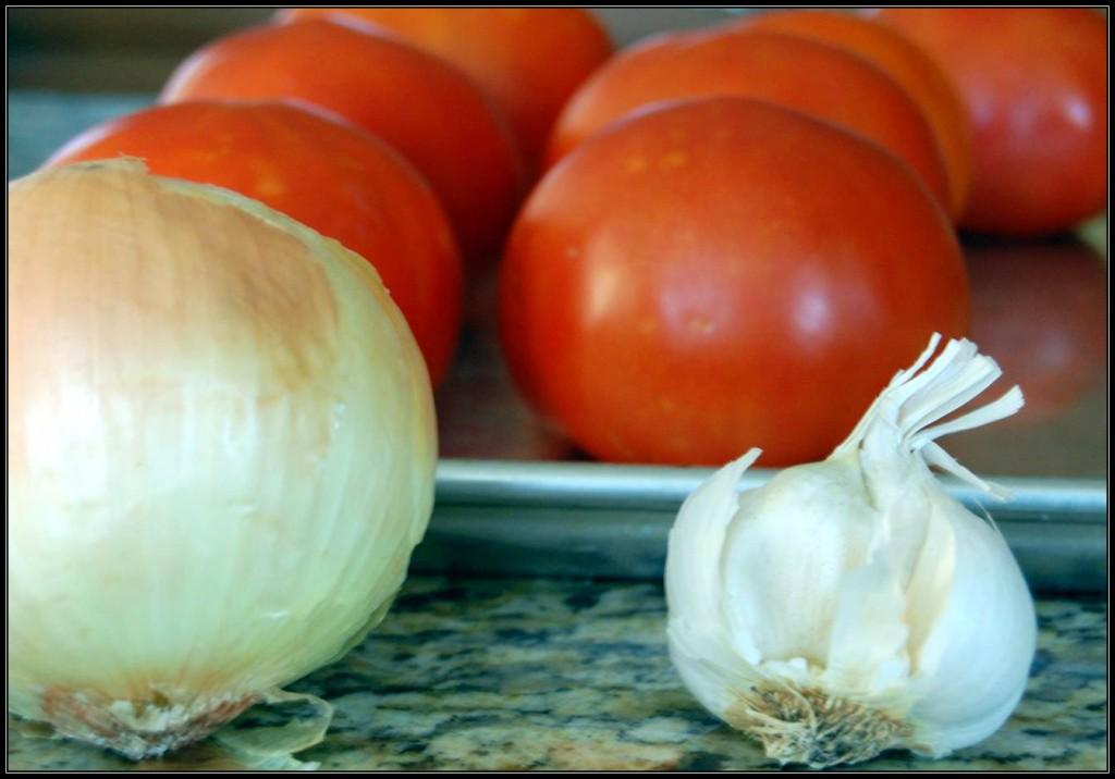 roasting pan tomatoes