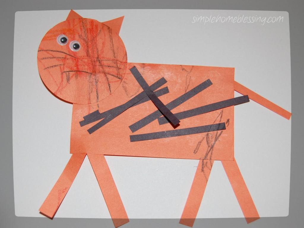 Tiger crafts for preschool