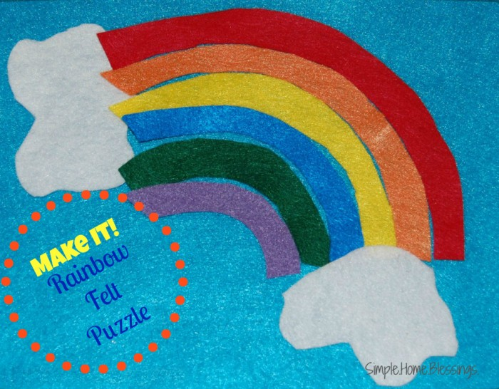 Make It_ Rainbow Felt Puzzle for toddlers