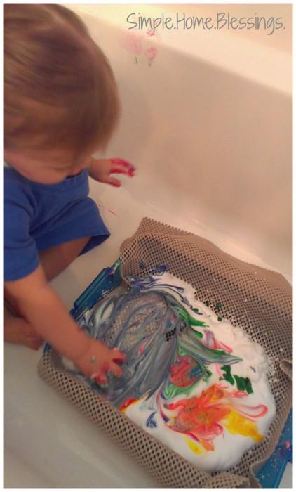 Toddler Easter Egg Decorating Activity