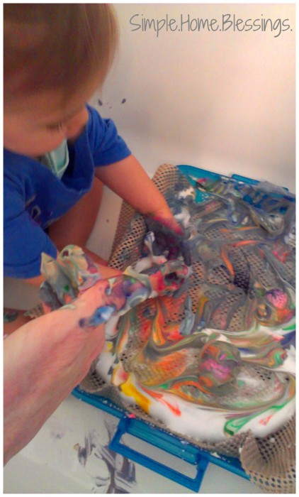 Toddler Messy Play Easter Egg Activity