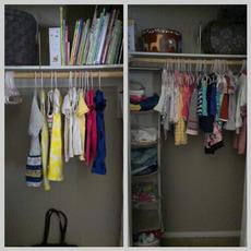 girls' closet clean