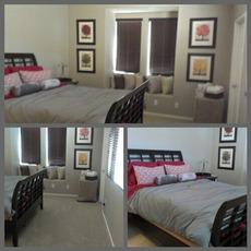 guest bedroom clean