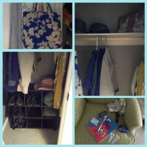 clean hall closet