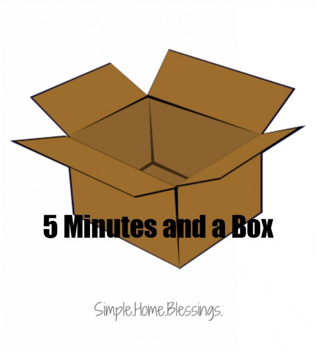 5 minutes and a box - donation