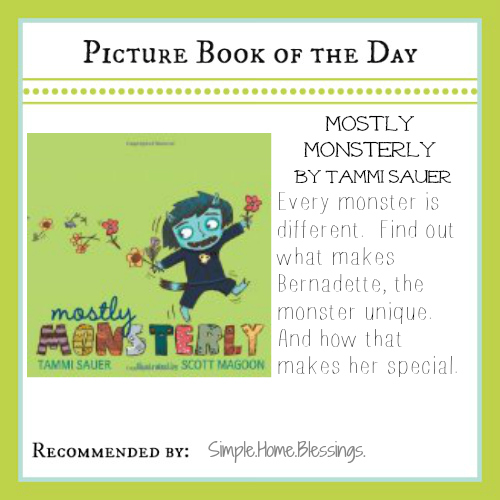 picture book of the day mostly monsterly