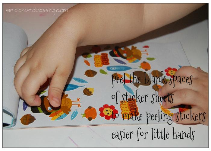 toddler sticker tip