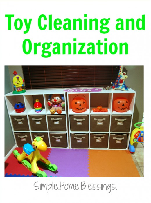 toy cleaning and organization