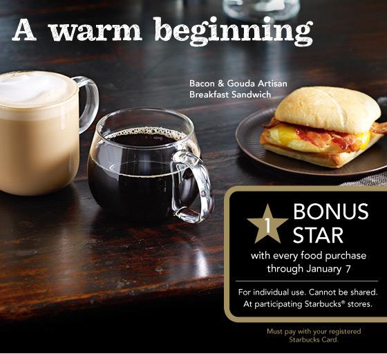 Starbucks bonus star capture