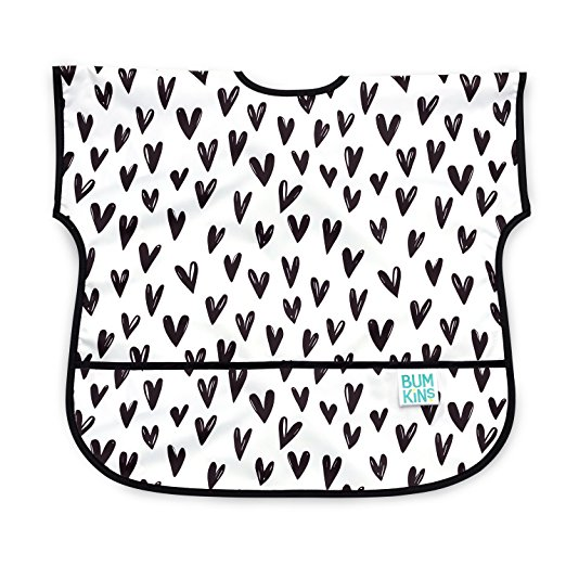 Heart baby bib - perfect for baby's first Valentine's Day