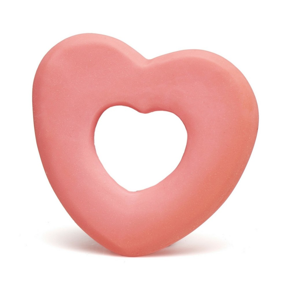heart shaped teether - perfect for Baby's first Valentine's Day