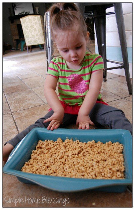 cooking with kids - peanut butter-cereal bars