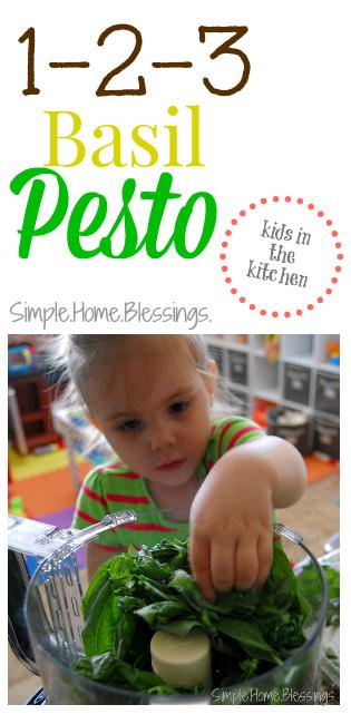 1-2-3 Basil Pesto - Kids in the Kitchen