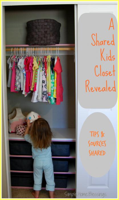 Shared Girls Closet Reveal