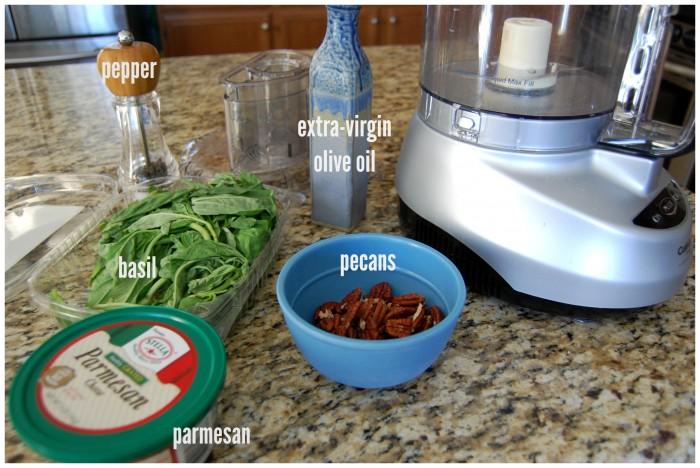 Basil Pesto - simple ingredients