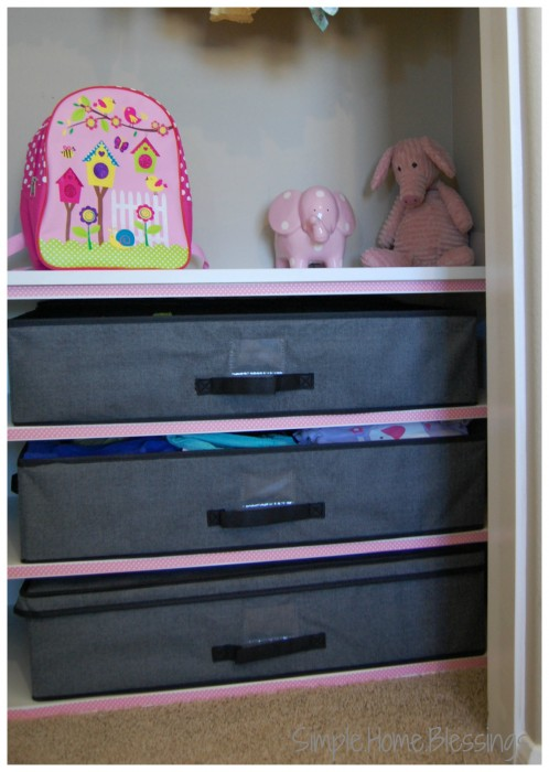 Girls Shared Closet Makeover Reveal - bottom right