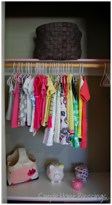 Girls Shared Closet Makeover Reveal - top left