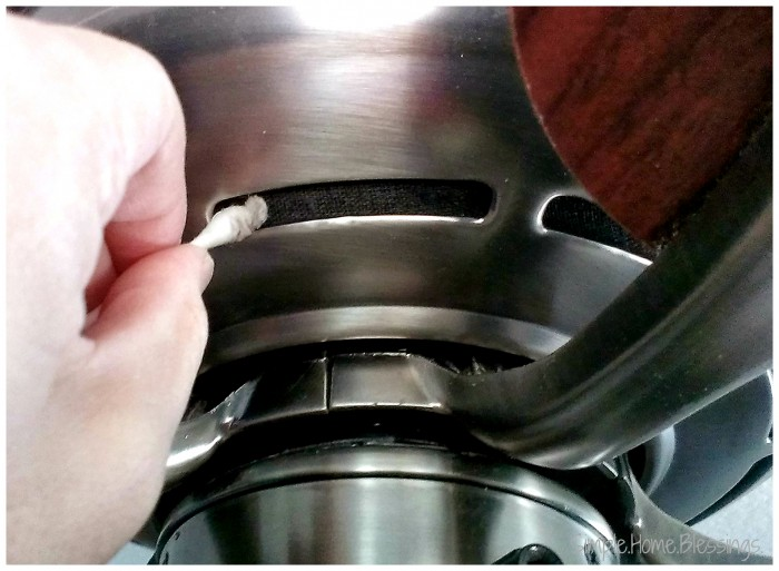 How to Clean a Ceiling Fan - Housing vent detail