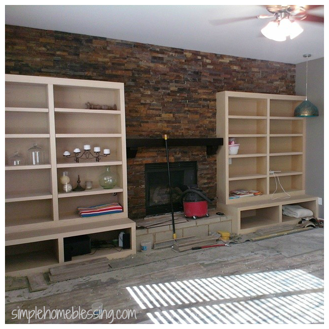 living room remodel wall
