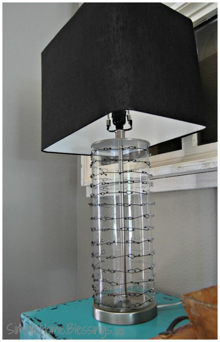 DIY Chain-mail Lamp Knockoff