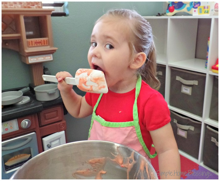 Image result for kids licking the bowl kitchen