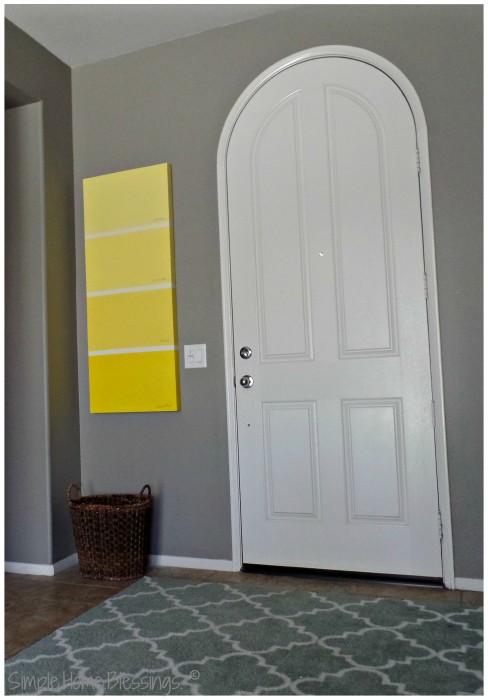 DIY Paint Sample Art - hung
