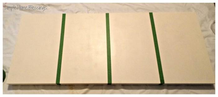 DIY Paint Sample Art - prep