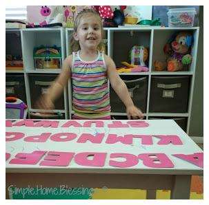 simple alphabet sequencing activity for preschool
