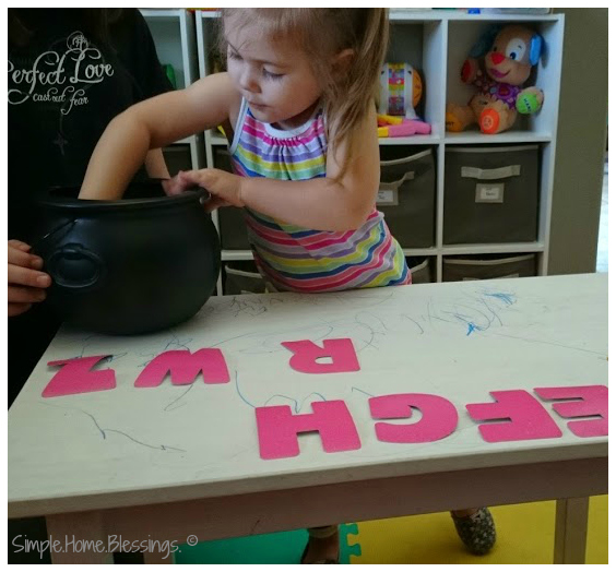 simple alphabet before and after activity