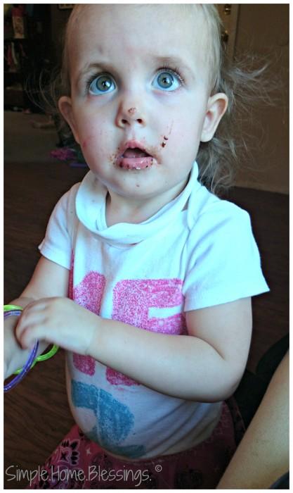 Toddler Birthday shirt, messy face, cute shirt