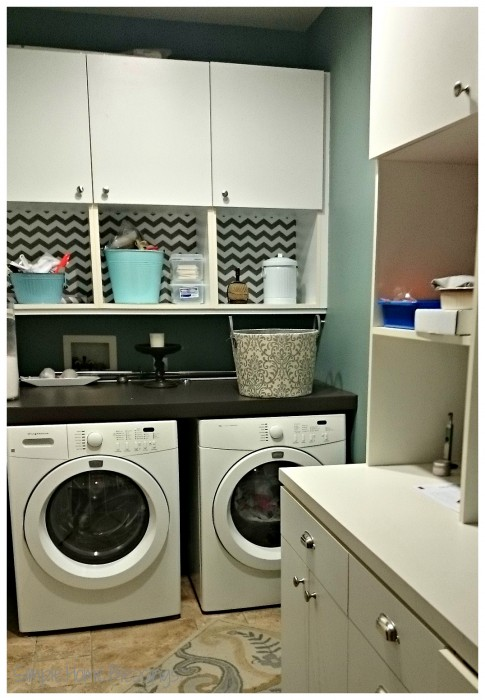 clutter free laundry room - clean surfaces