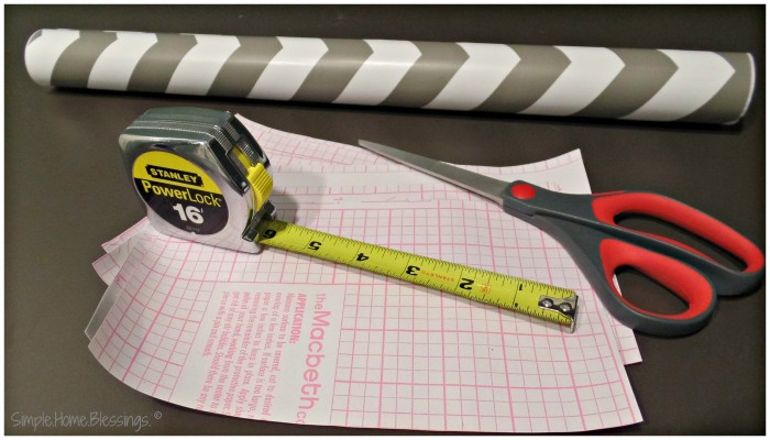 Contact Paper hanging tips - lay out the cut pieces to flatten