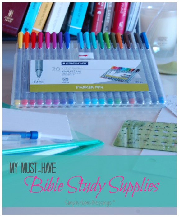 absolute favorite Bible study supplies