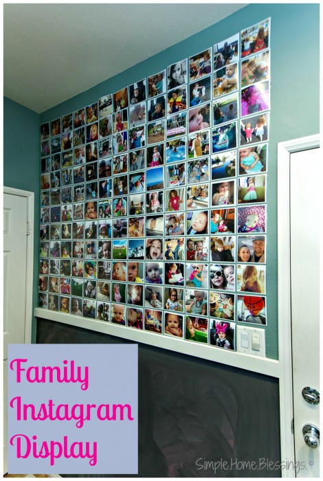 Family Instagram Photo Wall