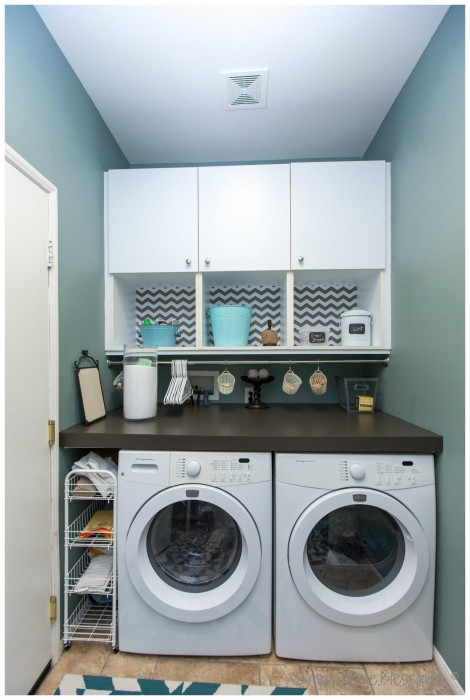 Laundry Room Makeover, new storage options