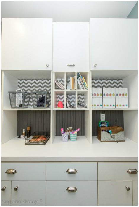 Laundry Room Organization - Media Storage Solution