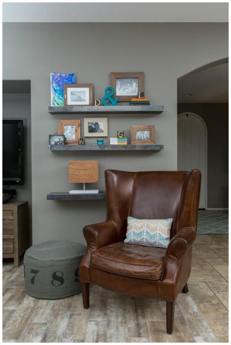 Living Room Makeover - reading nook