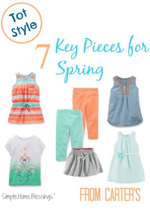 Carte'rs 7 Key Pieces for Spring
