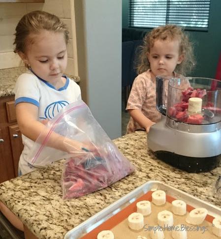 Strawberry Banana Ice Cream - a simple summer treat kids can make
