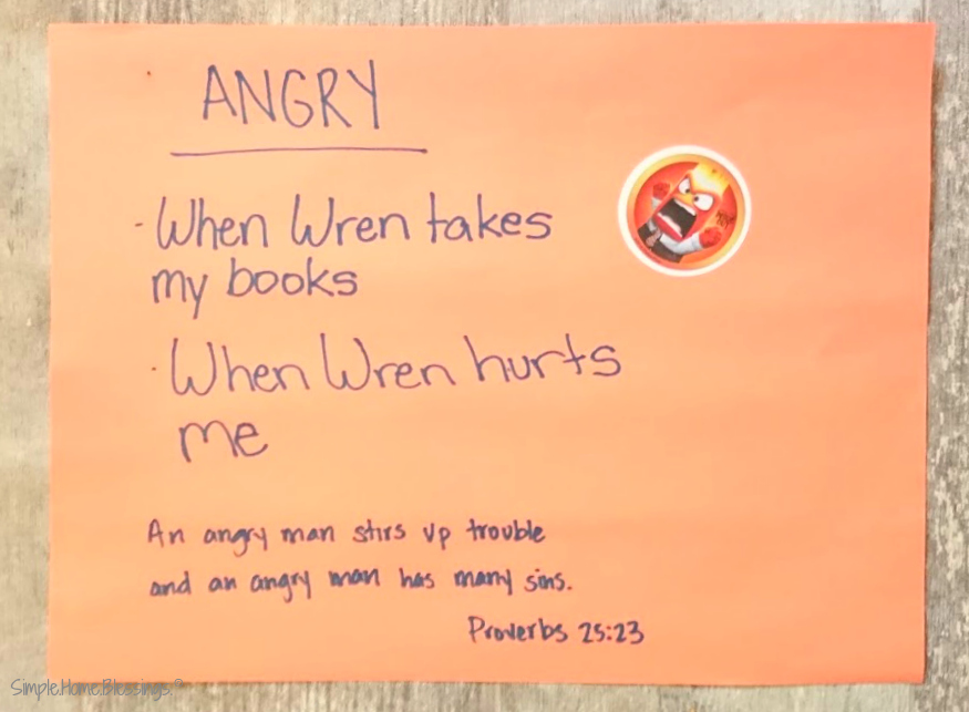 a simple project about emotions for toddlers and preschoolers