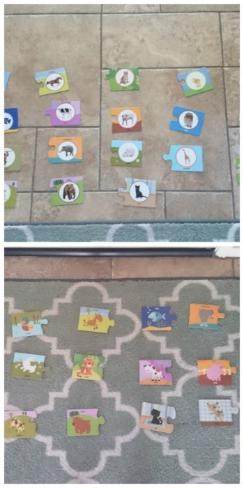 puzzle play activity for toddlers and preschoolers