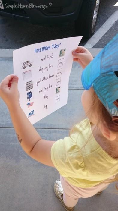 "Post Office ""I Spy"" for preschoolers"
