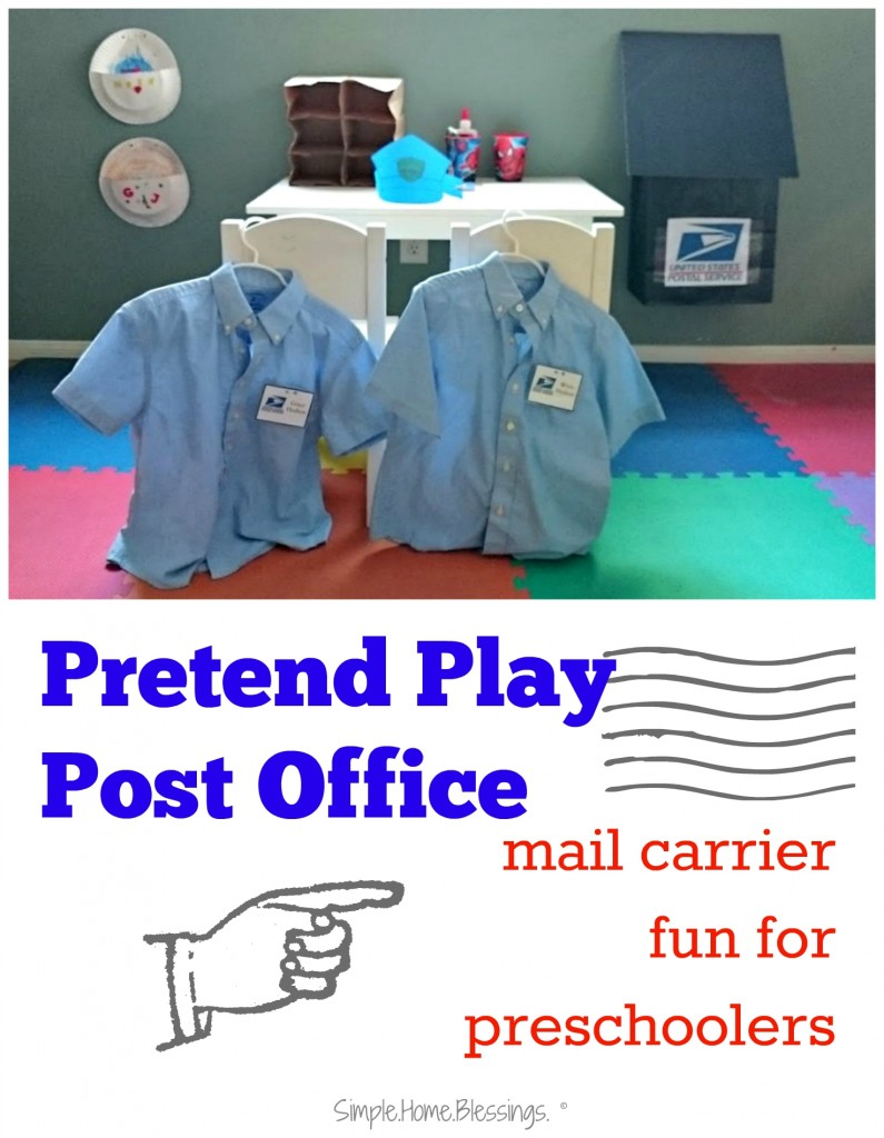 pretend play post office