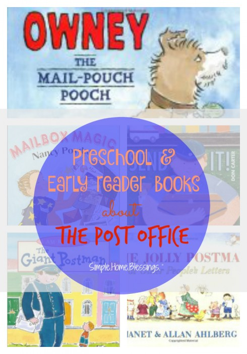 preschool post office books for a helpers unit on the post man