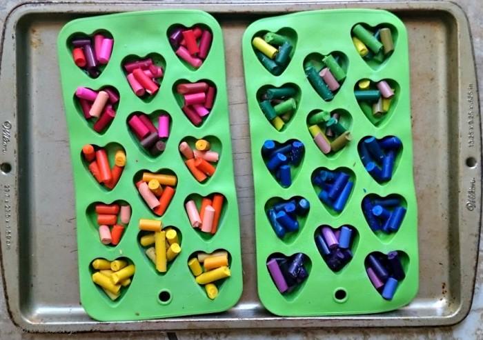 Rainbow Heart Crayon Activity
