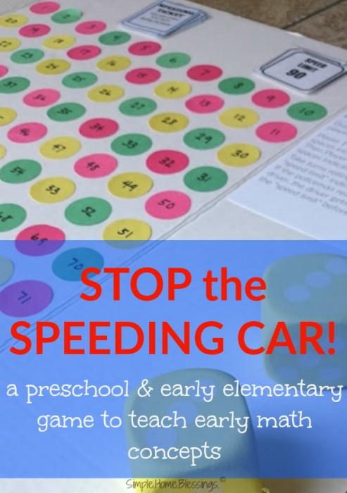 Stop the Speeding Car - a fun early math concepts game!