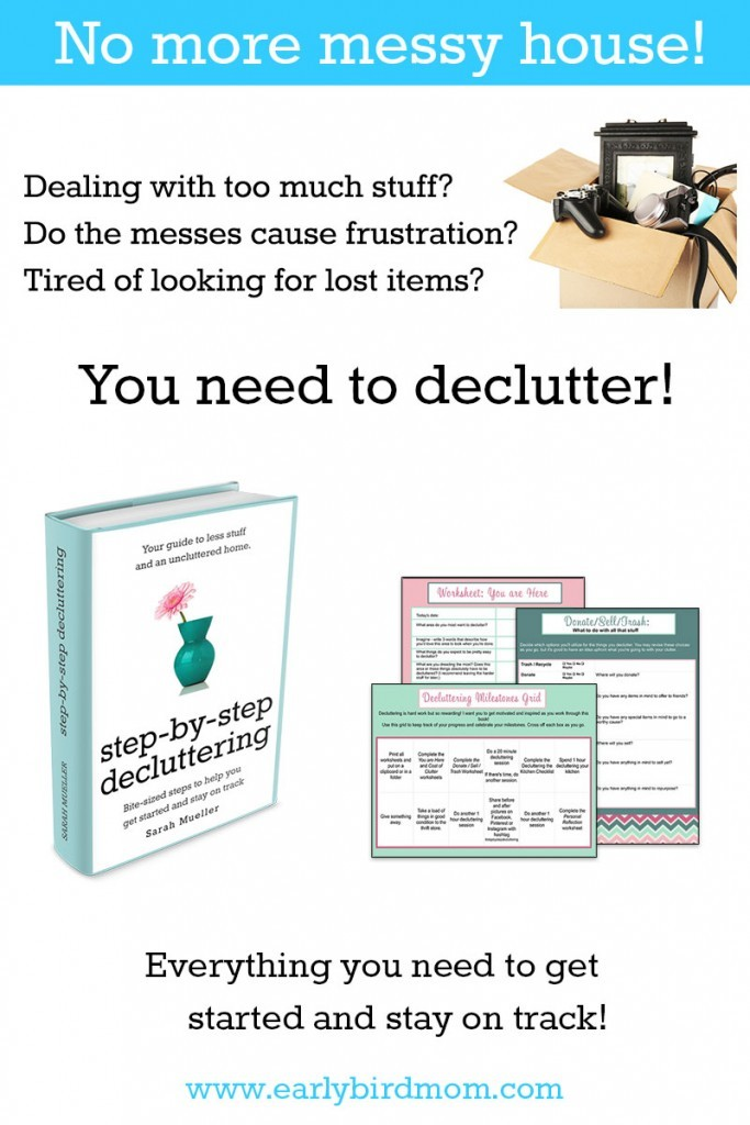 the next book in the hope for homemakers series - step by step decluttering